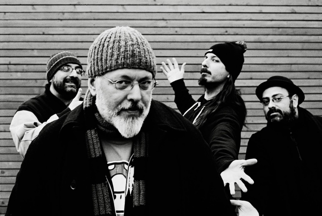 The Mike Keneally Band - (l. to r.) Rick Musallam (guitar/backing vocals), Mike Keneally (guitar/keys/vocals), Bryan Beller (bass)Joe Travers (drums) - photo: Tore Kersten