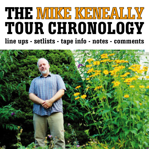 The Mike Keneally Tour Chronology