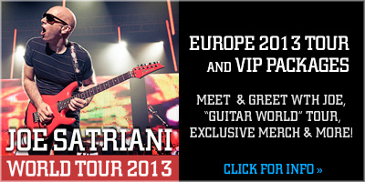 Joe Satriani World Tour 2013 - Europe 2013