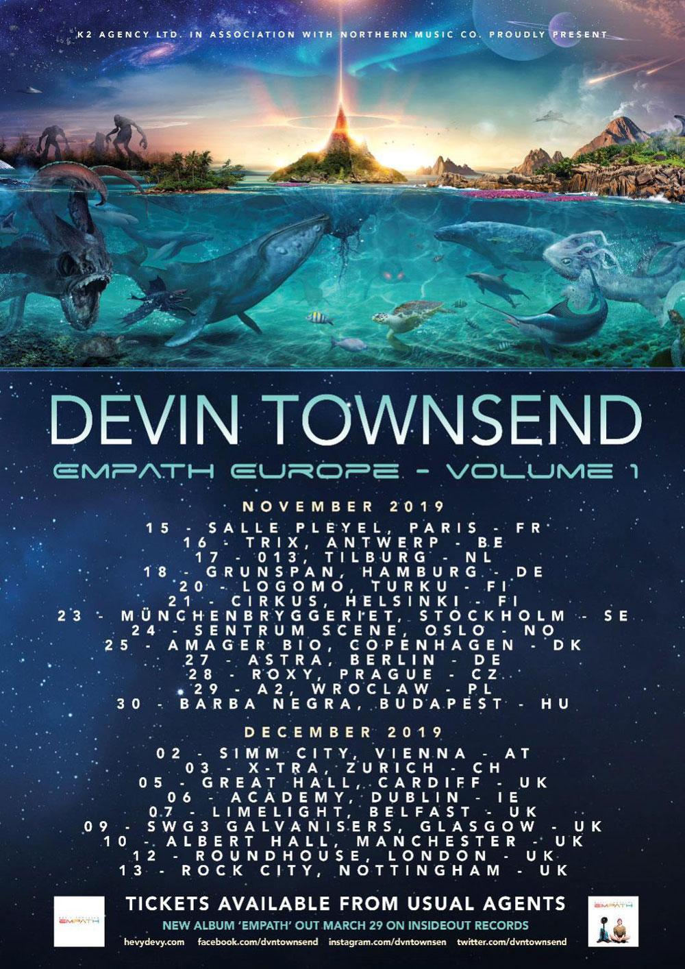 Devin Townsend Empath Europe - Volume 1